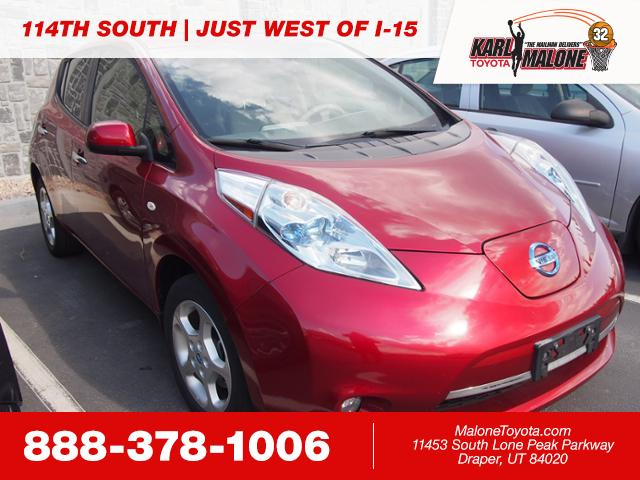 Pre Owned 2012 Nissan Leaf Hatchback In Sandy 54662b Karl Malone