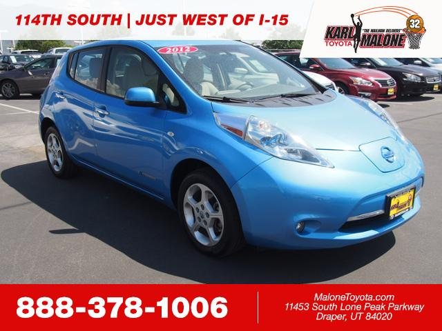 Pre Owned 2012 Nissan Leaf Sl 4dr Car In Sandy 54453a Karl Malone