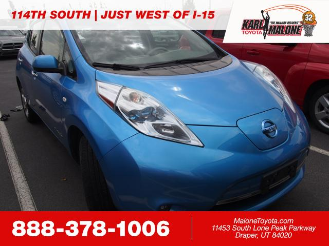 Pre Owned 2012 Nissan Leaf Hatchback In Sandy 54453a Karl Malone